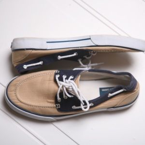 Polo by Ralph Lauren Shoes Tan White and Blue